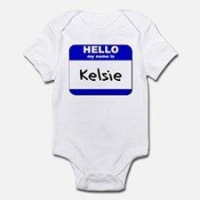 hello my name is kelsie  Infant Bodysuit