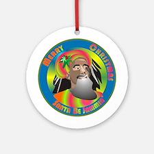 Santa Be Jammin Ornament (Round)