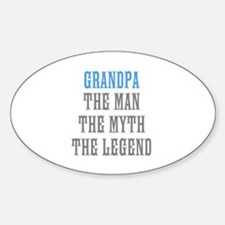Grandpa The Man Myth Legend Decal