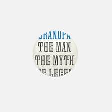 Grandpa The Man Myth Legend Mini Button (10 pack)
