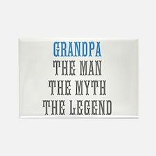 Grandpa The Man Myth Legend Magnets