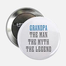 "Grandpa The Man Myth Legend 2.25"" Button (100 pack"