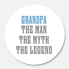 Grandpa The Man Myth Legend Round Car Magnet