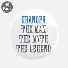 "Grandpa The Man Myth Legend 3.5"" Button (10 pack)"