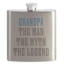 Grandpa The Man Myth Legend Flask