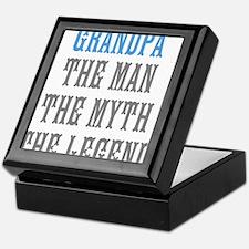 Grandpa The Man Myth Legend Keepsake Box