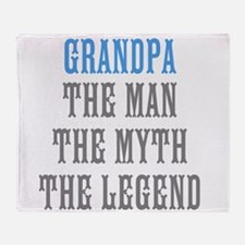 Grandpa The Man Myth Legend Throw Blanket