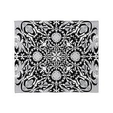 Gothic, Black And White Throw Blanket