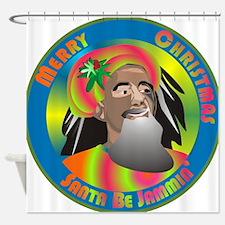 Santa Be Jammin Shower Curtain