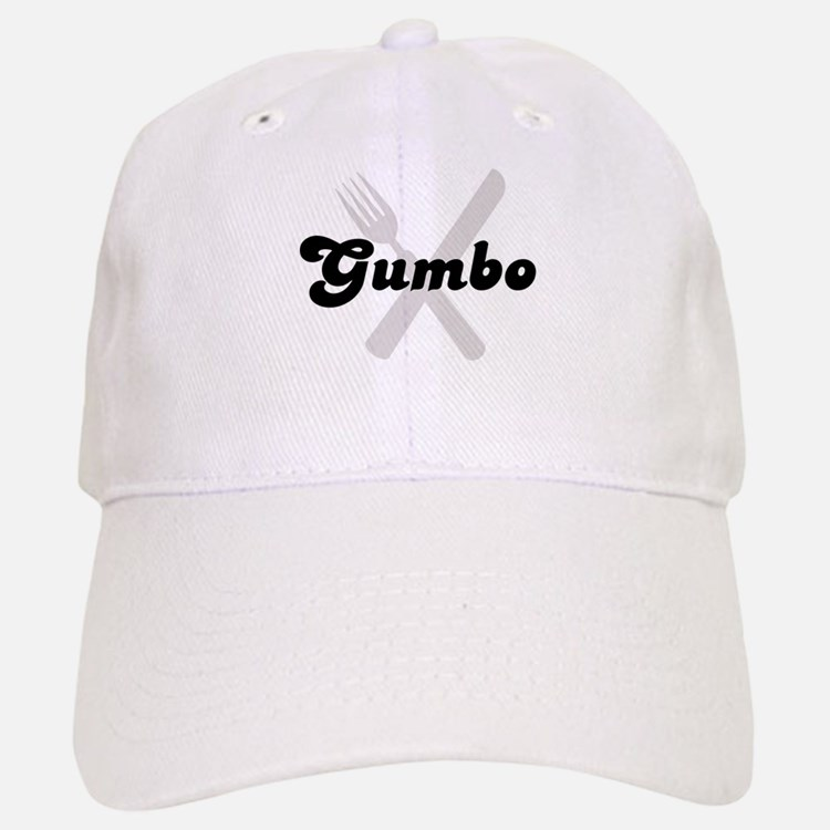 Gumbo (fork and knife) Baseball Baseball Cap