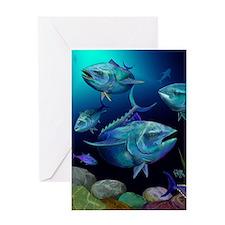 Blue Fin Tuna Greeting Cards