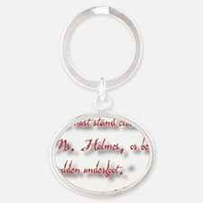 Moriarty's Warning Oval Keychain
