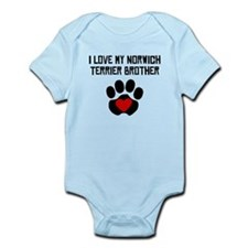 I Love My Norwich Terrier Brother Body Suit