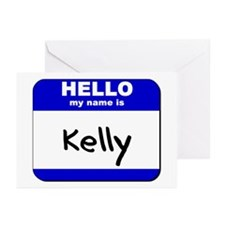 hello my name is kelly  Greeting Cards (Package of