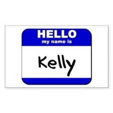 hello my name is kelly Rectangle Decal