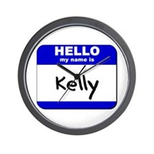 hello my name is kelly  Wall Clock