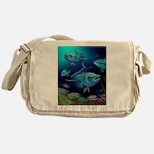 Blue Fin Tuna Messenger Bag