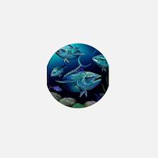 Blue Fin Tuna Mini Button
