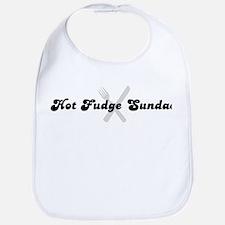 Hot Fudge Sundae (fork and kn Bib