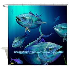 Blue Fin Tuna Shower Curtain