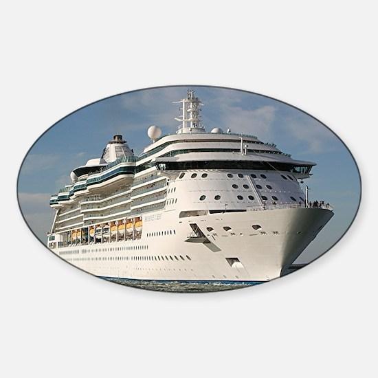 Cruise ship 3 (oval) Sticker (Oval)