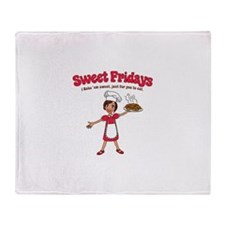 Sweet Fridays by Ashlee Throw Blanket