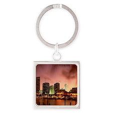 Miami Square Keychain