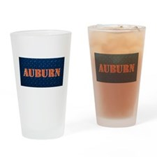 Auburn Diamond Plate Design Drinking Glass
