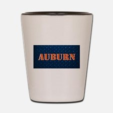 Auburn Diamond Plate Design Shot Glass