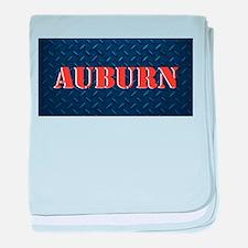 Auburn Diamond Plate Design baby blanket