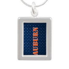 Auburn Blue Diamond Plate Design Necklaces