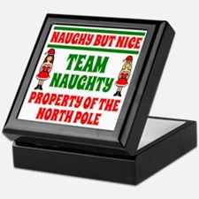 Naughty But Nice Team Naughty Keepsake Box