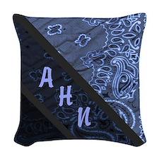 Purple Bandanna Pattern Woven Throw Pillow