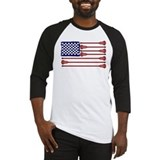 American flag lacrosse shirts Long Sleeve T Shirts