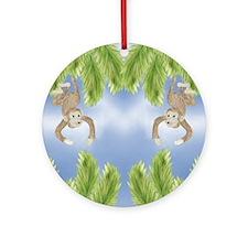 Monkey Ornament (Round)