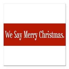 "Cute Seasonal holiday Square Car Magnet 3"" x 3"""