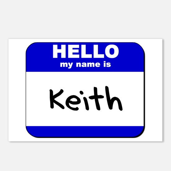 hello my name is keith  Postcards (Package of 8)
