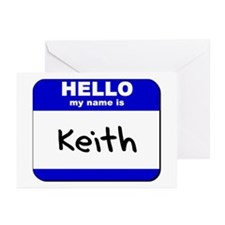 hello my name is keith  Greeting Cards (Package of