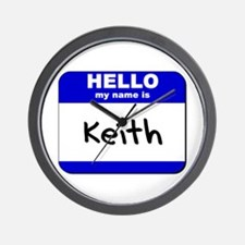 hello my name is keith  Wall Clock