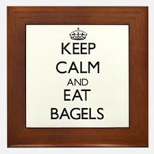 Keep calm and eat Bagels Framed Tile