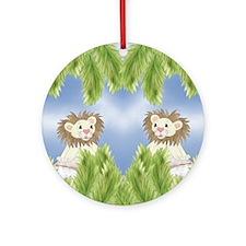 Lion Ornament (Round)