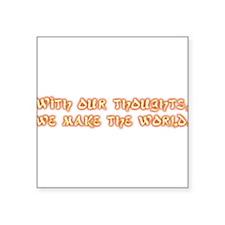 "buddha3.png Square Sticker 3"" x 3"""