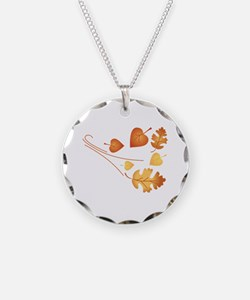 Falling Autumn Leaves Necklace