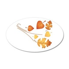 Falling Autumn Leaves Wall Decal