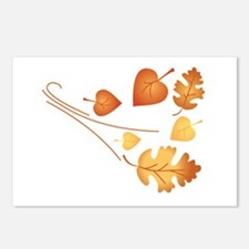Falling Autumn Leaves Postcards (Package of 8)