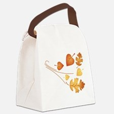 Falling Autumn Leaves Canvas Lunch Bag