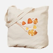 Falling Autumn Leaves Tote Bag