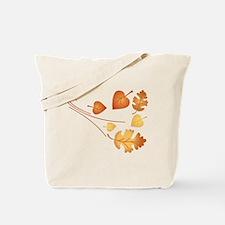 Falling Autumn Leaves Tote Bag