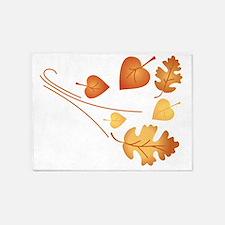 Falling Autumn Leaves 5'x7'Area Rug