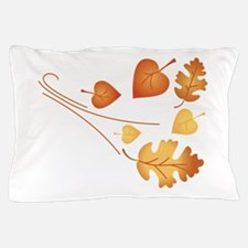 Falling Autumn Leaves Pillow Case